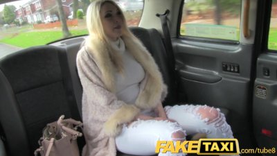 FakeTaxi Hot blonde with sexy lingerie