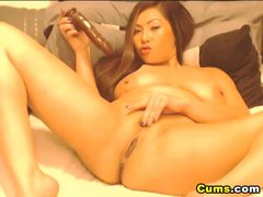 Preview 8 of Busty Asian Babe Likes Her Dildo Deep