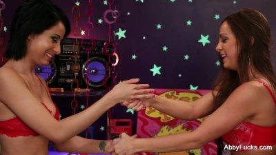 Abigail Mac fingers herself
