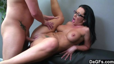 Busty chick sucking and fucking to get the job