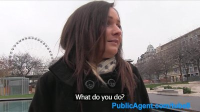 PublicAgent Beautiful brunette has sex for cash