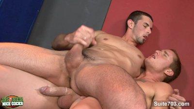 Gay jocks sucking their large pricks