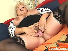 Big breasted furry vagina grandma