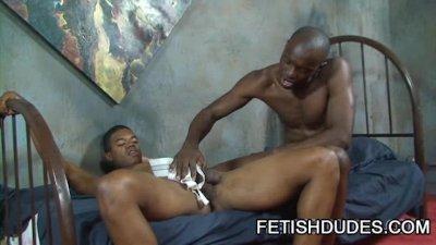 Blaine Everett: Hot Gay Black On Black Jockstrap Scene