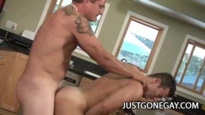 Johnny Donava and Dominik Rider: Handsome Daddies Kitchen Sex