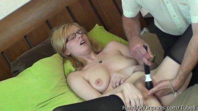 Horny Blonde Jessica-Lo Gets Help Masturbating to Orgasm