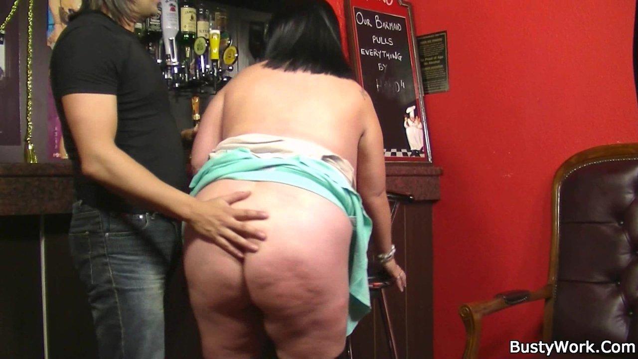 Man fucks barmaid