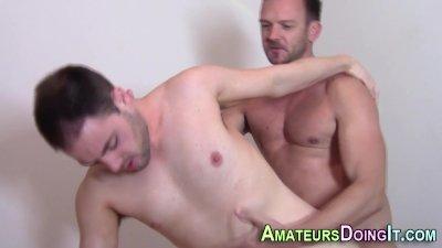 Amateur hunk fucks ass
