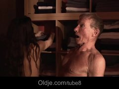Preview 3 of Shameless Young Girl Fucking Married Old Man