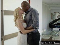 ebonyED Hot Blonde Girl Cadenca Lux Pays Off Boyfriends Debt By Fucking BBC