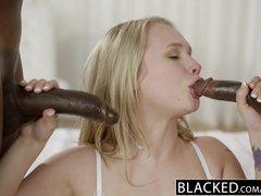 Preview 8 of Ebonyed Beautiful Blonde Dakota James Screams With 2 Big Ebony Cocks