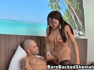 Shemale Fucks The Muscled Man Anal Hot Cum