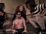 Three Hot Femdoms, One Lucky Man