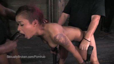 Midwestern Hottie Cassandra Nix Face Fucked in Bondage