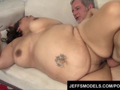 Preview 8 of Toosie's Plump Latina Pussy Gets Probed By An Old Guy's Dick