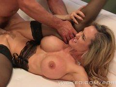 Wicked   Sexy milf Brandi Love takes a big load