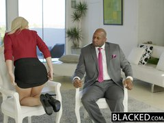ebonyED Business Blonde Anikka Albrite Ass Fucked By a BBC