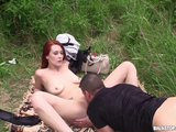 bitch stop - horny redhead gets fucked in the meadowPorn Videos