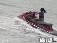 Mofos   Skinny beach girl gets pounded