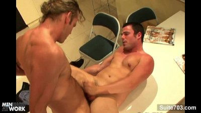 Horny gay gets mouth and ass fucked