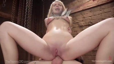 Blonde Slut Anal Trainee