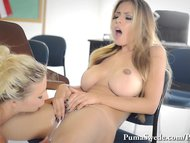 Puma Swede and Yuri Luv's Slutty Big Tit Lesbian Hoola Hooping!