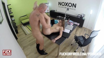 She kept her job by offering a fuck to her boss