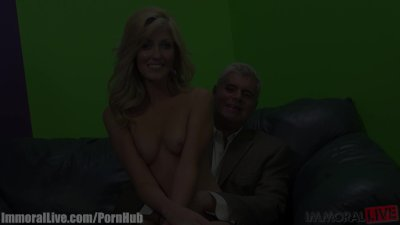 Young stripper is pumping Porno Dan's cock!