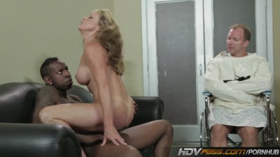 Sexy blonde MILF Shayla Laveaux Gets fucked by huge ebony cock