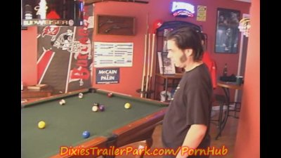 My Slutty little Sister at the POOL HALL