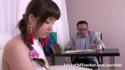 Elen proves to her old teacher she's good for something in sex