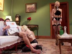 Preview 3 of Blonde Bdsm Slave Threesome