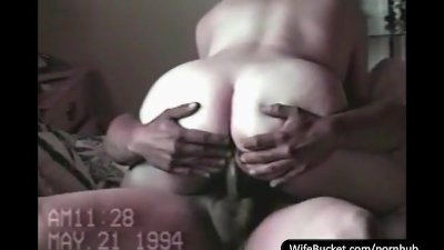 Vintage sextape of chubby wife