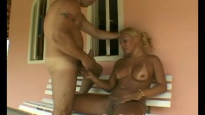 Blonde Tranny Moans While Getting His Ass Drilled