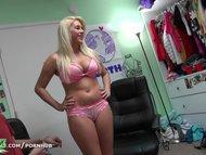 Dare Dorm - College blonde loves the camera