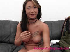 Preview 5 of Anal Loving Vietnamese German Military Girl On Casting Couch
