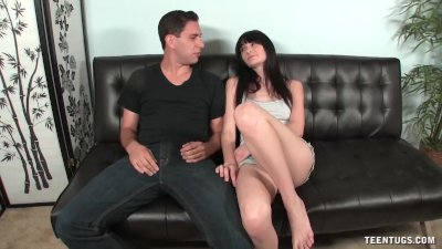 Topless Brunette Cutie Couch H