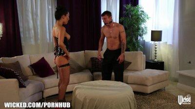 Asa Akira dominates her man