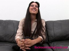 Preview 1 of Persian Squirter Anal Fail, Ambush Creampie Win On Casting Couch