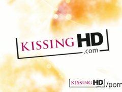 Kissing HD Mature mom tongue sucking and lip biting innocent young girl