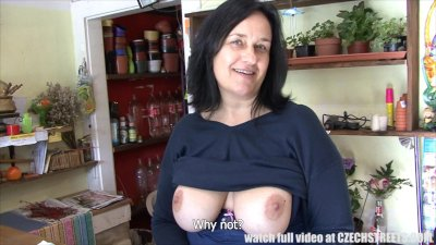 F-Sized Tits Mature Get Fucked in Flower Store