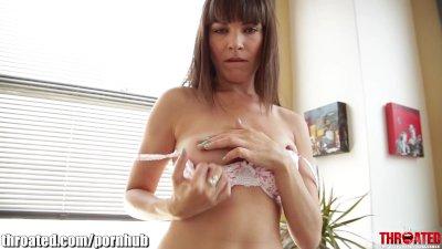 THROATED Dana DeArmond's face fucking session