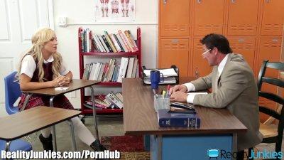 RealityJunkies Slutty Schoolgirl Rides Teacher on Desk