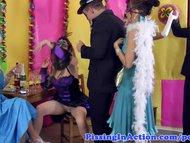 Piss fetish skanks bizarre party orgy