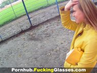 Fucking Glasses - Fucked on a construction site