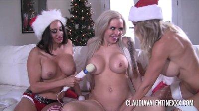 PornstarPlatinum Team wishes you all Happy Holidays - Lesbian Milf fun!