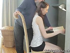 Alina loves to get good grades and she s not afraid of putting her pussy