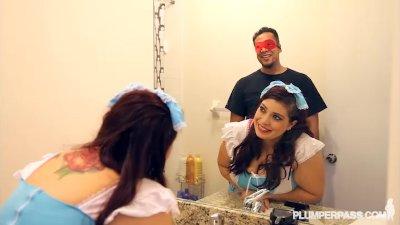 Busty Plump Latina BBW Lola Lush Cosplay for Halloween