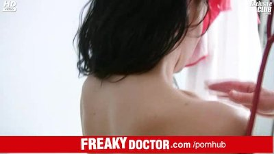 Fucking hot brunette Lydia pussy spreader exam