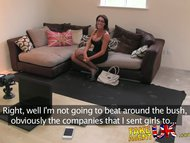 FakeAgentUK Dirty talking Manchester lass causes agents cock to erupt